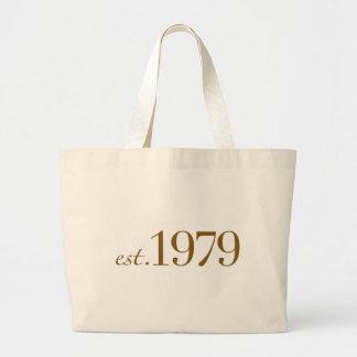 Est 1979 bolsa tela grande