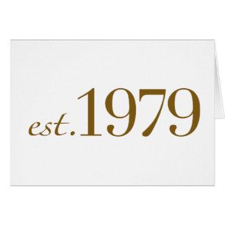 Est 1979 tarjeta de felicitación