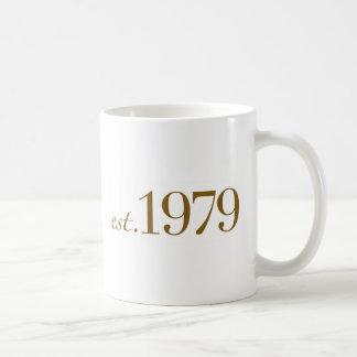Est 1979 taza básica blanca