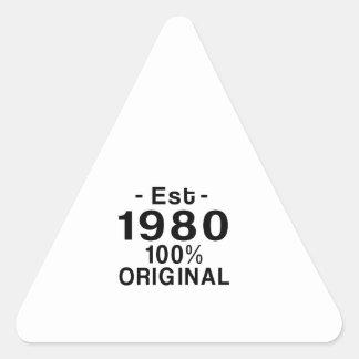 Est. 1980 triangle sticker