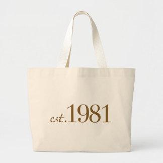 Est 1981 (Birth Year) Canvas Bag