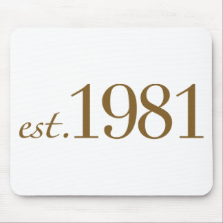 Est 1981 (Birth Year) Mouse Pad