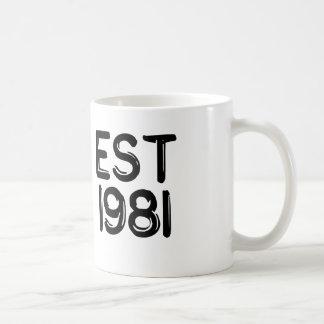 EST 1981 COFFEE MUG