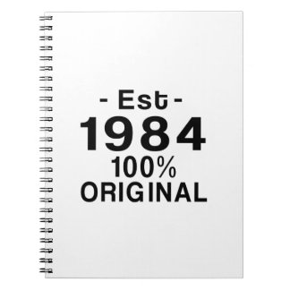 Est. 1984 spiral notebook