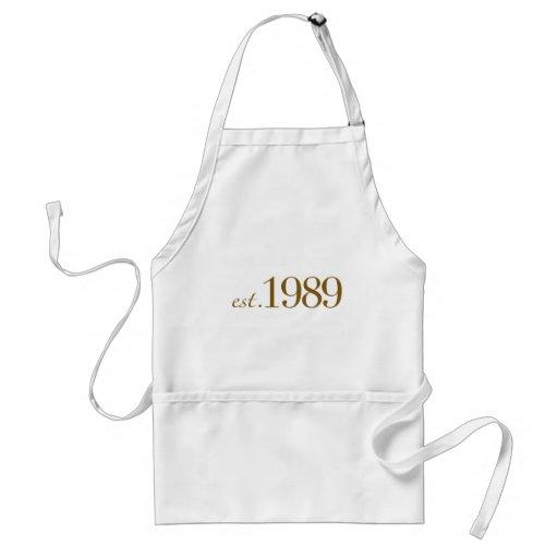 Est 1989 adult apron