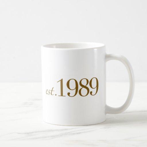 Est 1989 coffee mugs