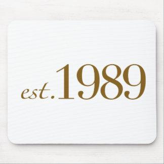 Est 1989 alfombrillas de raton