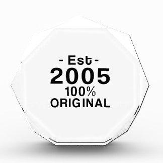 Est. 2005 acrylic award