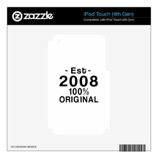 Est. 2008 decal for iPod touch 4G