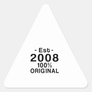 Est. 2008 triangle sticker