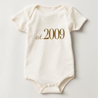 Est 2009 baby bodysuit
