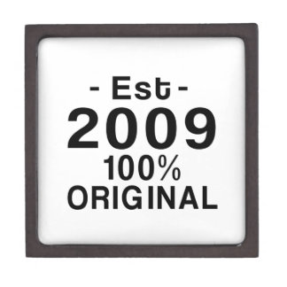 Est. 2009 jewelry box