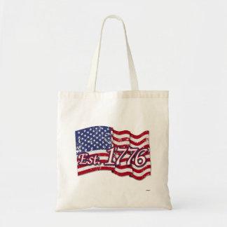 Est. Bandera de los 1776 E.E.U.U. - apenada Bolsas