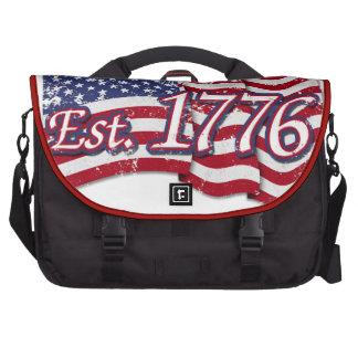 Est. Bandera de los 1776 E.E.U.U. - apenada Bolsas Para Portátil