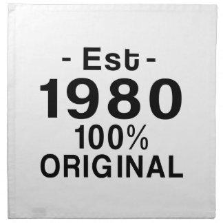 Est. el an o 80 servilleta de papel