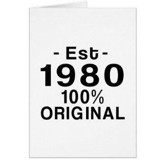 Est. el an o 80 tarjeta de felicitación