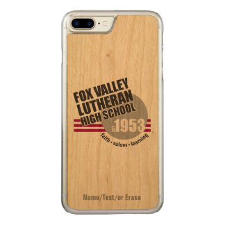 Est in 1953 - Fox Valley Lutheran High School Carved iPhone 8 Plus/7 Plus Case