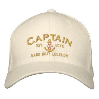 Est personalizado. Ancla del capitán de mar Gorras De Béisbol Bordadas