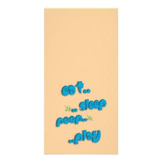 Est..sleep..poop..play Card