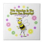 Esta abuela es el anillo diario de la abeja de la  tejas