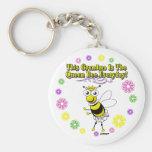 Esta abuela es el anillo diario de la abeja de la  llaveros personalizados