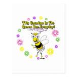 Esta abuela es el anillo diario de la abeja de la postal