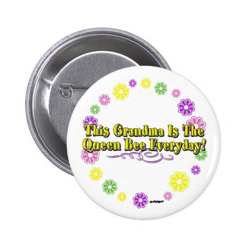 Esta abuela es el anillo diario de la flor de la a pins