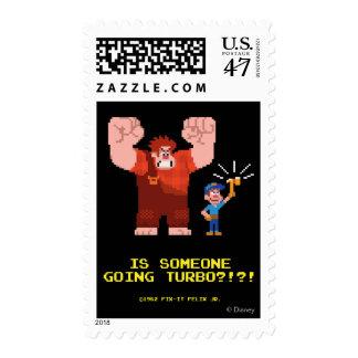 Está alguien Turbo que va Sello Postal