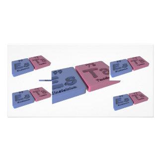 Esta as Einsteinium Es and Tantalum Ta Photo Greeting Card