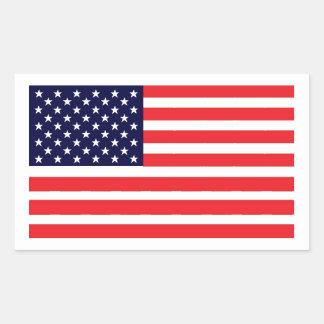 Esta bandera americana rectangular pegatinas