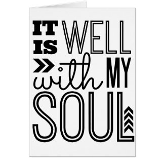 Está bien con mi alma tarjeta de felicitación
