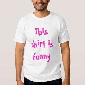 esta camisa es divertida