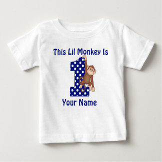 Esta camisa personalizada mono del cumpleaños de