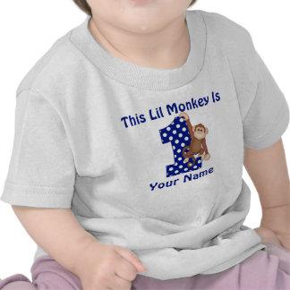 Esta camisa personalizada mono del cumpleaños de L