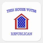 Esta casa vota al republicano pegatina cuadrada