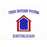 Esta casa vota al republicano postal