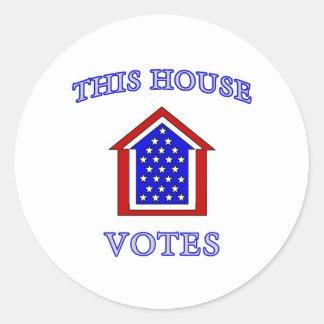 Esta casa vota etiqueta redonda