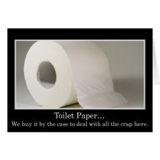 Esta compañía debe utilizar mucho papel higiénico tarjeta de felicitación
