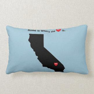 Está donde el hogar el corazón CALIFORNIA Cojín