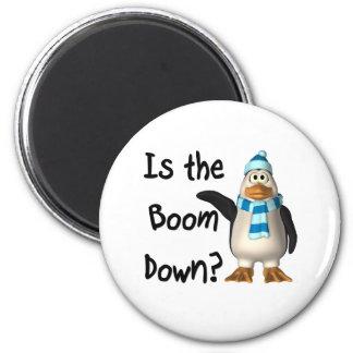 ¿Está el auge abajo? Con el pingüino Imanes De Nevera