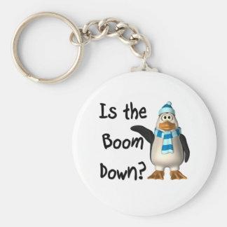 ¿Está el auge abajo? Con el pingüino Llaveros Personalizados