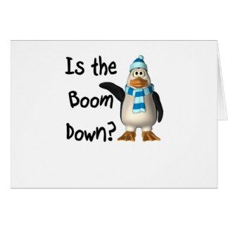 ¿Está el auge abajo? Con el pingüino Tarjeta