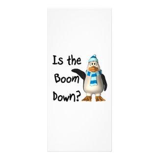 ¿Está el auge abajo? Con el pingüino Plantilla De Lona