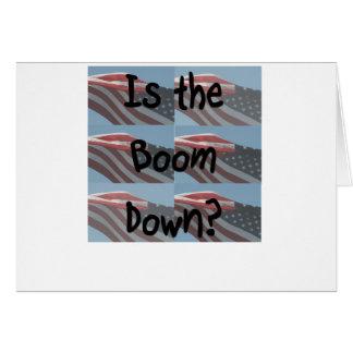 ¿Está el auge abajo? Fondo de la bandera Felicitación