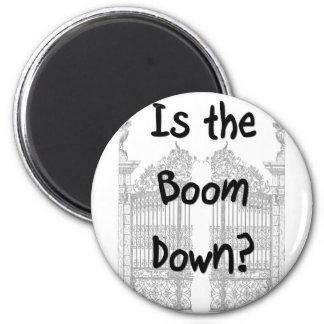 ¿Está el auge abajo? Palabras con las puertas gris Imán De Nevera