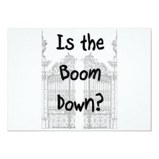 ¿Está el auge abajo? Palabras con las puertas Invitación 12,7 X 17,8 Cm