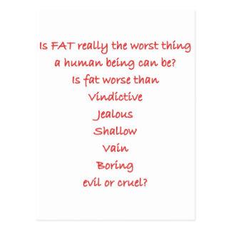 Está el FAT realmente la cosa peor Tarjetas Postales