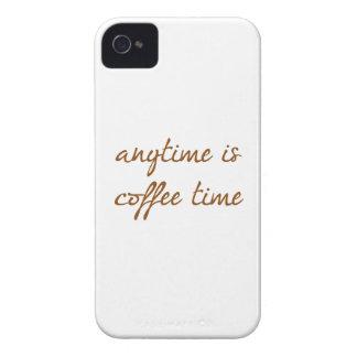 Está en cualquier momento el tiempo del café Case-Mate iPhone 4 cobertura