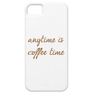 Está en cualquier momento el tiempo del café iPhone 5 carcasa