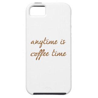 Está en cualquier momento el tiempo del café iPhone 5 Case-Mate protector